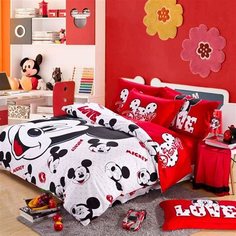 mickey mouse bedroom and white mickey mouse bedding for
