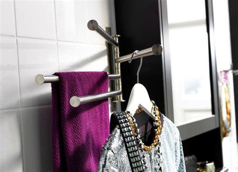 swiveling towel rack    buys   tiny