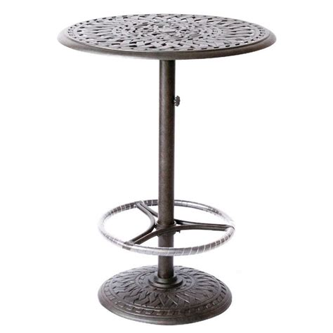 pedestal bar table and chairs darlee 30 quot round patio pedestal bar table 201060 bj x