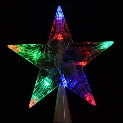 outdoor christmas tree star high end indoor outdoor tree topper light