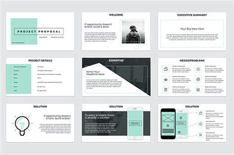 project proposal powerpoint template graphic