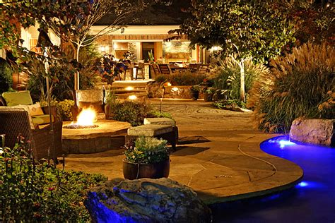 flagstone  boulder terraces pool house outdoor