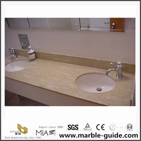 Yellow Bathroom Vanity Tops by China Yellow Marble Bathroom Walling Tile Vanity Tops