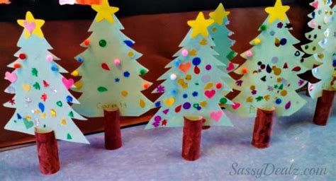 creative christmas art and craft diy tree toilet paper roll craft for crafty morning