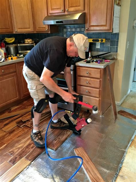 kitchen makeover  hardwood floors
