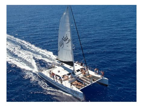 Catamaran Charter Maui alii nui private catamaran charter maui tours