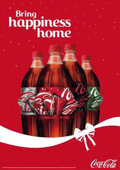 coca colas ingenious holiday bottle   label  pull