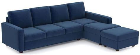 L Shape Sofa Beds by L Shaped Sofa Bed Suede Blue 250 X 200 Cm Souq Uae