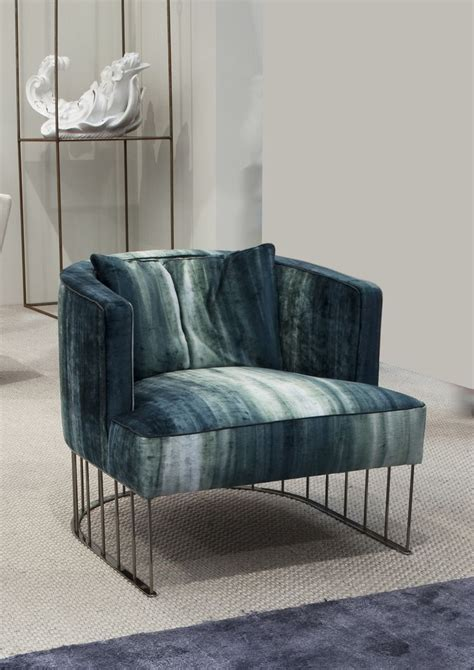 Sofa Chair by Upholstered Fabric Easy Chair Tentazione By Erba Italia