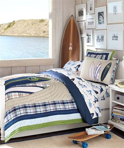 Pottery Barn Surf Bedding by Boys Surfing Bedding Shore Surf Quilt