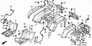 Honda Atv 2004 Oem Parts Diagram For Rear Fender