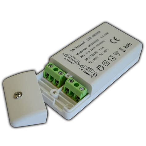 led trafo   watt  dc mit netzkabel schalter