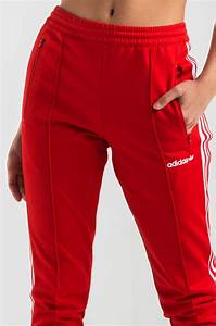 Adidas Trefoil Design Akira Cotton Adidas Beckenbauer Open Hem Track Pants In