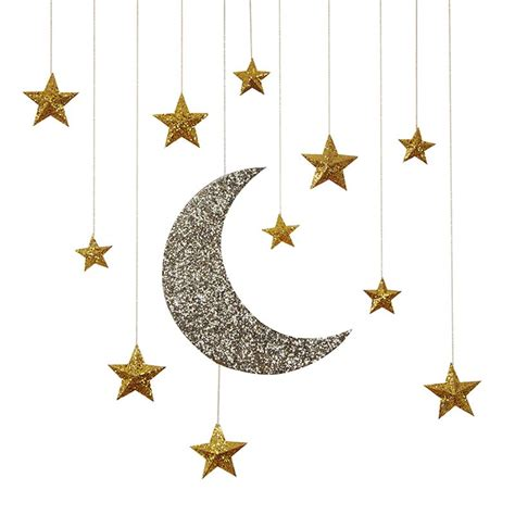 hanging star christmas lights glitter moon stars hanging decorations sam 39 s shower