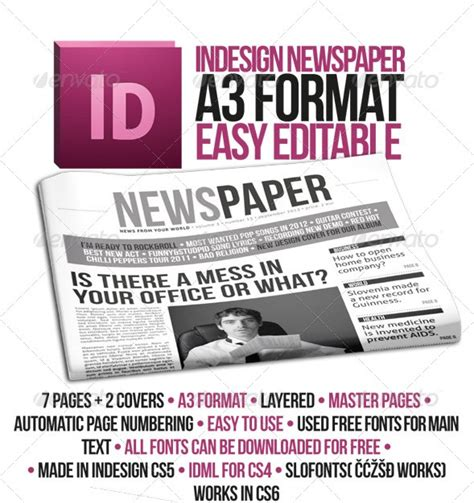 indesign newspaper template 9 best images of indesign newspaper headline template newspaper template newspaper ad