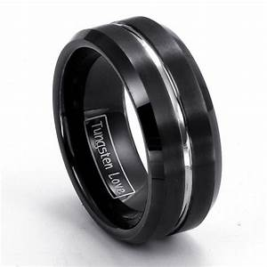 Black Tungsten Wedding Bands Pick Inspiration And Ideas