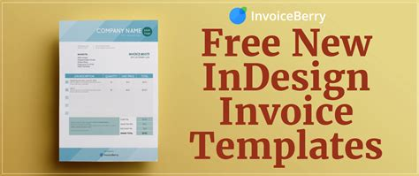 indesign invoice templates invoiceberry blog