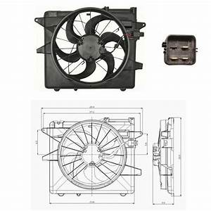 Electric Cooling Fan Assembly Fits  2005