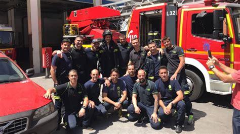 djokovic visita estrella del parque de bomberos de madrid