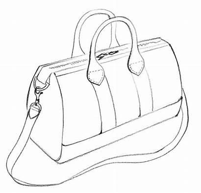Bag Drawings Drawing Handbags Template Duffle Sketches