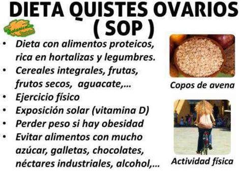 dieta alimentos recomendados  los ovarios