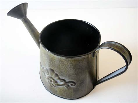 Small Decorative Metal Watering Can Flower Pot Planter