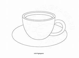 Coffee cup design template | Coloring Page