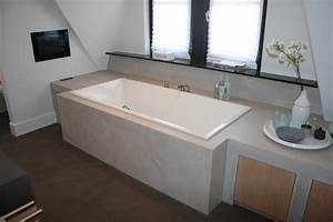 Beton Cire Deco : beton cire badkamer stoere industriele betonlook badkamer ~ Premium-room.com Idées de Décoration