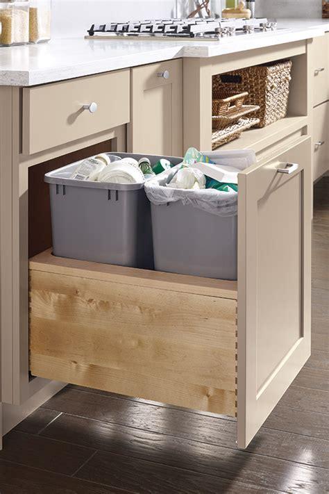 push  open wastebasket cabinet diamond cabinetry