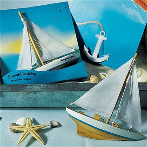 quot smooth sailing quot sailboat magnet gift favor the knot shop