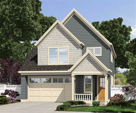 Narrow Cottage Plans by Narrow Lot Cottage 69480am Architectural Designs