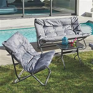 Salon De Jardin Pliant : salon de jardin tables et chaises le mobilier de jardin ~ Teatrodelosmanantiales.com Idées de Décoration