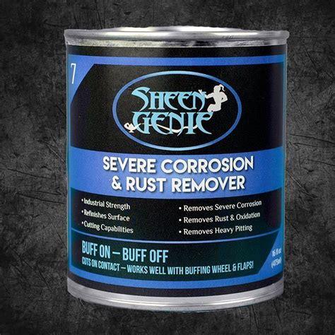 rust corrosion remover severe metal polish shine sheen genie background