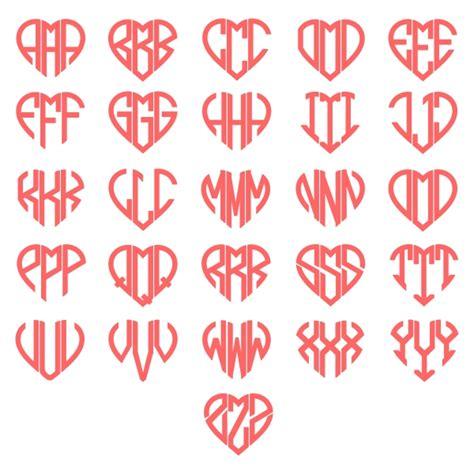 heart monogram svg cuttable font