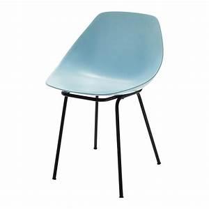 Chaise En Verre : chaise guariche en fibre de verre et m tal bleue coquillage maisons du monde ~ Teatrodelosmanantiales.com Idées de Décoration