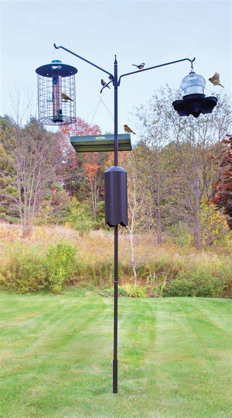 bird feeder pole system unique bird feeder