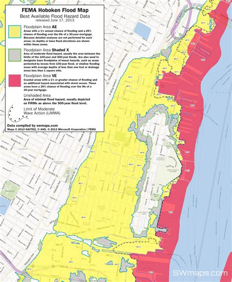 New Hoboken Flood Map Fema Best Available Flood Hazard