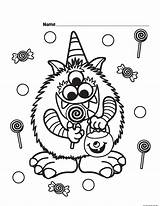 Halloween Coloring Candy Pages Printable Getcolorings Colorings sketch template