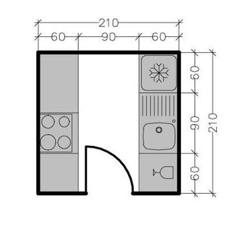 plan cuisine ferm馥 amenager une cuisine de 8m2 maison design bahbe com