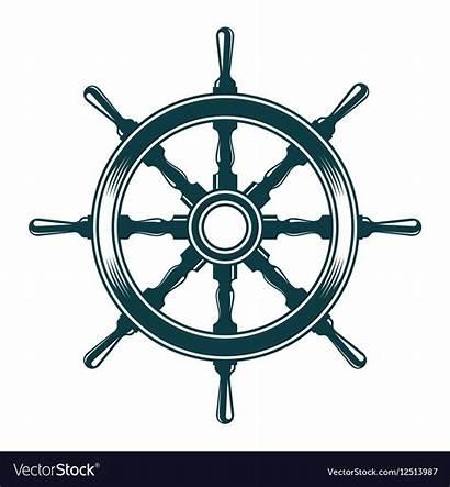 Wheel Steering Ship Vector Royalty Vectorstock