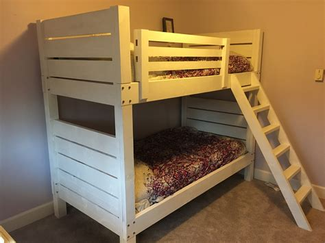 ana white white bunk beds diy projects