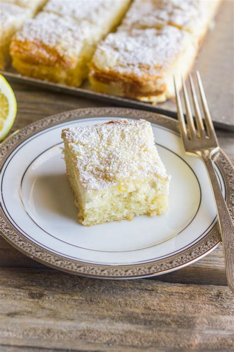 I spread the sweetened cream cheese filling between layers of cake batter to create a distinct line of. Greek Yogurt Cream Cheese Lemon Coffee Cake - Lovely ...