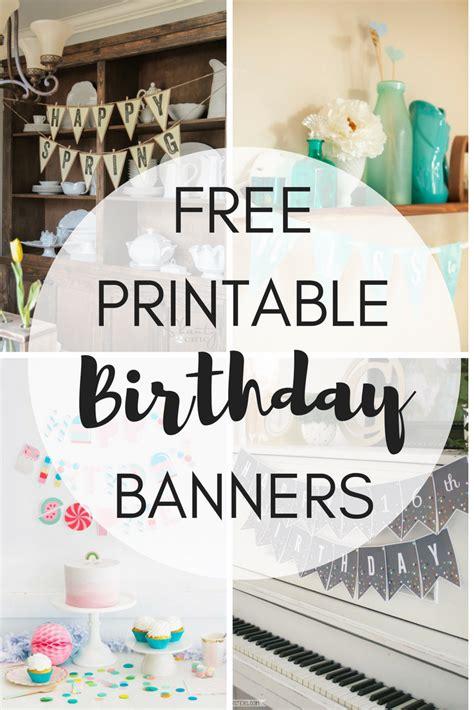 printable birthday banners  girl creative