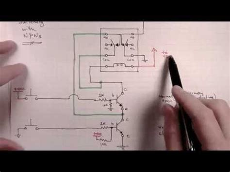 how to build a selectable latching relays circuit part 2c low side switching youtube