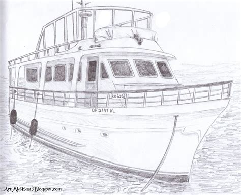 Boat Sketches by How To Draw A Boat A Step By Step Drawing Lesson