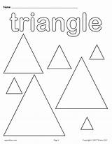 Coloring Shapes Pages Triangles Triangle Preschool Shape Worksheets Printable Kindergarten Worksheet Preschoolers Toddlers Toddler Supplyme Tracing Activities Trace Colors Squares sketch template