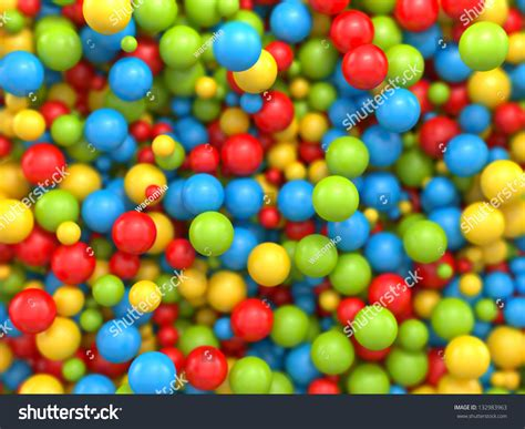 3d Mixed Color Balls Background Stock Photo 132983963