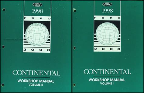 service repair manual free download 1989 lincoln continental mark vii electronic toll collection 1998 lincoln continental factory shop manual 2 book set repair service workshop