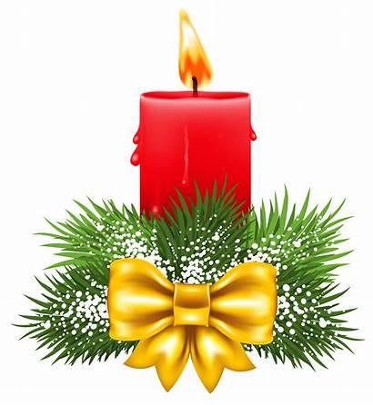 Candle Clipart Christmas Transparent Candles Clip Decorations