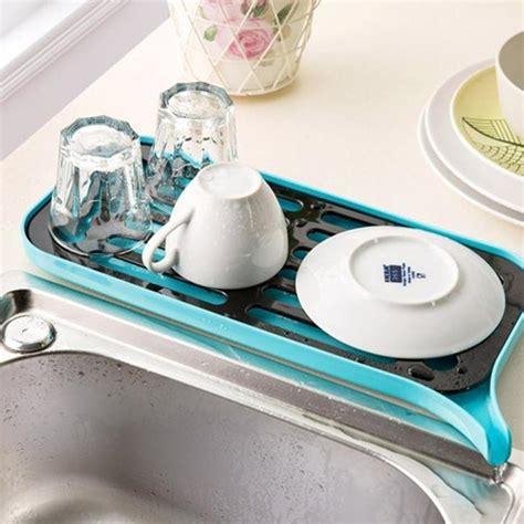drain rack plastic dish drainer dryer tray large sink drying rack worktop kitchen organizer